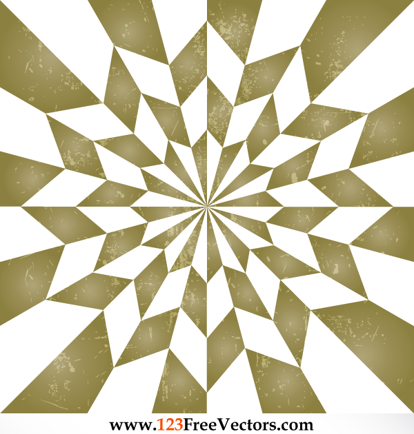 Star Optical Illusion Vintage Background Vector by 123freevectors