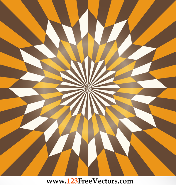 Star Optical Illusion Abstract Vector Art by 123freevectors