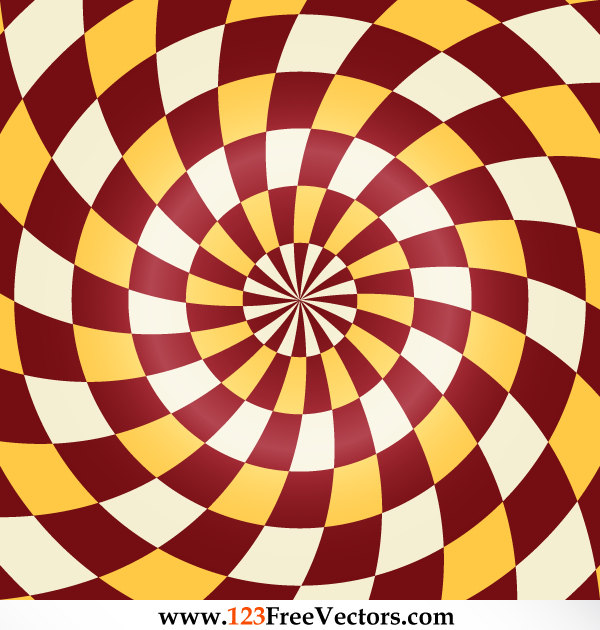 Abstract Spiral Optical Illusion Vector Free by 123freevectors