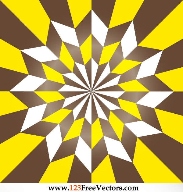 Free Vector Star Optical Illusion Vintage Style by 123freevectors