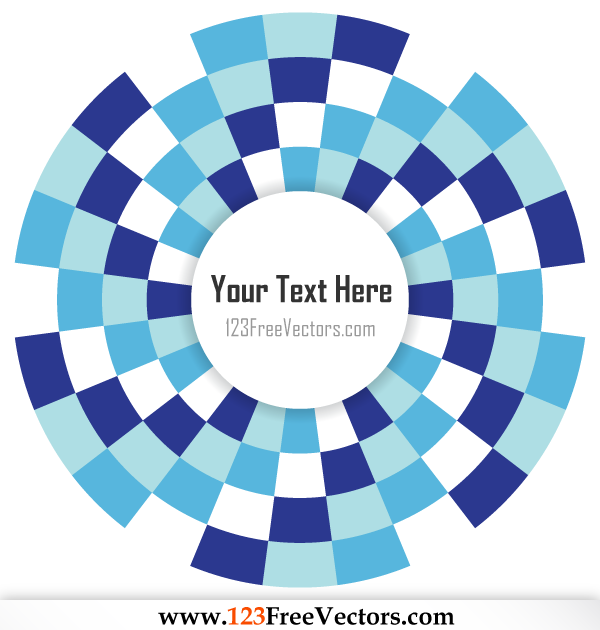 Free Circle Optical Illusion Vector for Your Text by 123freevectors