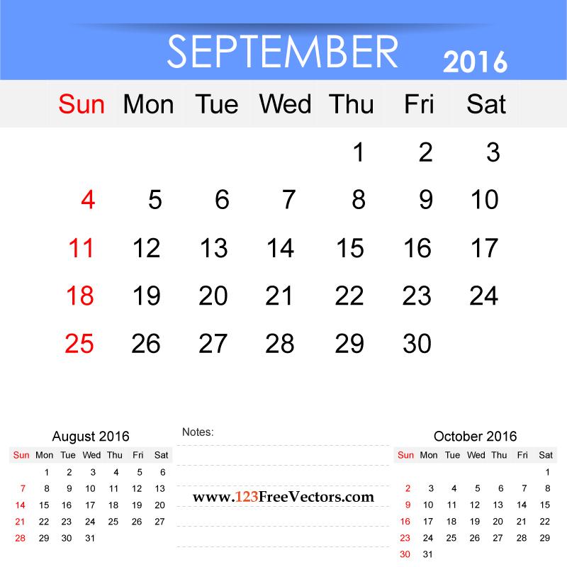 September Calendars Print For Free Fall Design