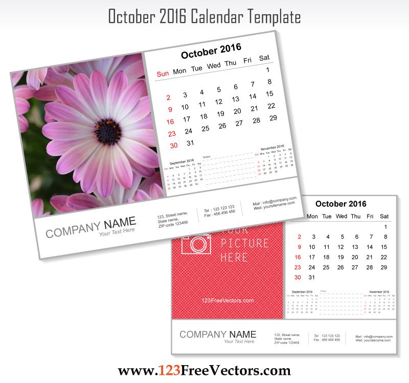 October Calendar Art : October calendar template by freevectors on deviantart