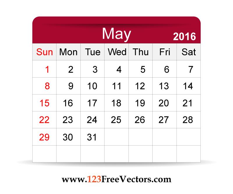 May Calendar Vector : Free vector calendar may by freevectors on deviantart