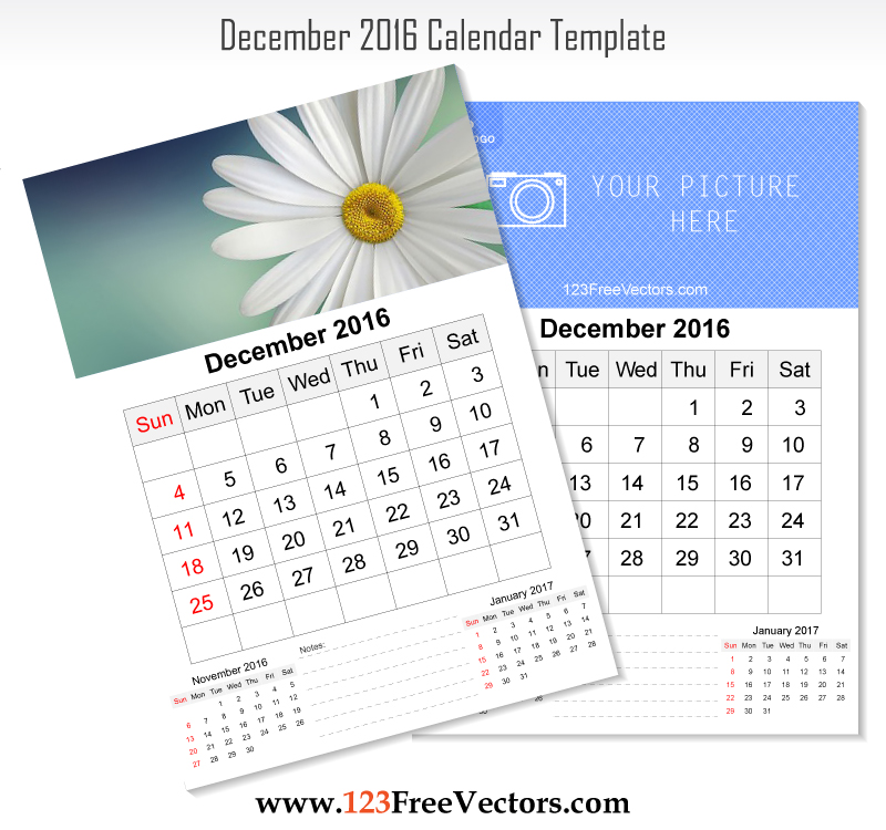 December Calendar Art : Wall calendar december by freevectors on deviantart