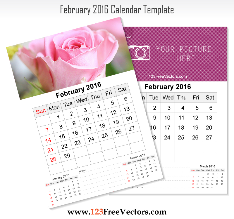 Wall Calendar February 2016 By 123freevectors On Deviantart