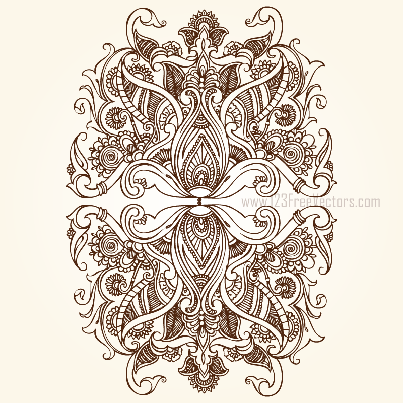 Hand Drawn Floral Ornaments By 123freevectors On Deviantart