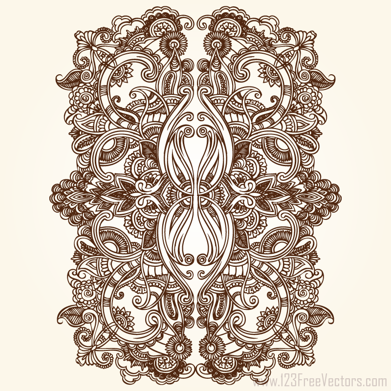 Floral ornament vector free download by 123freevectors on for Design ornaments