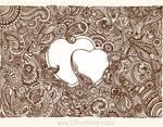 Decorative Flourish with Heart