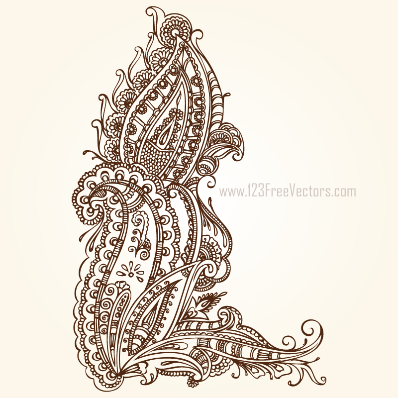 Paisley Designs Free Download by 123freevectors