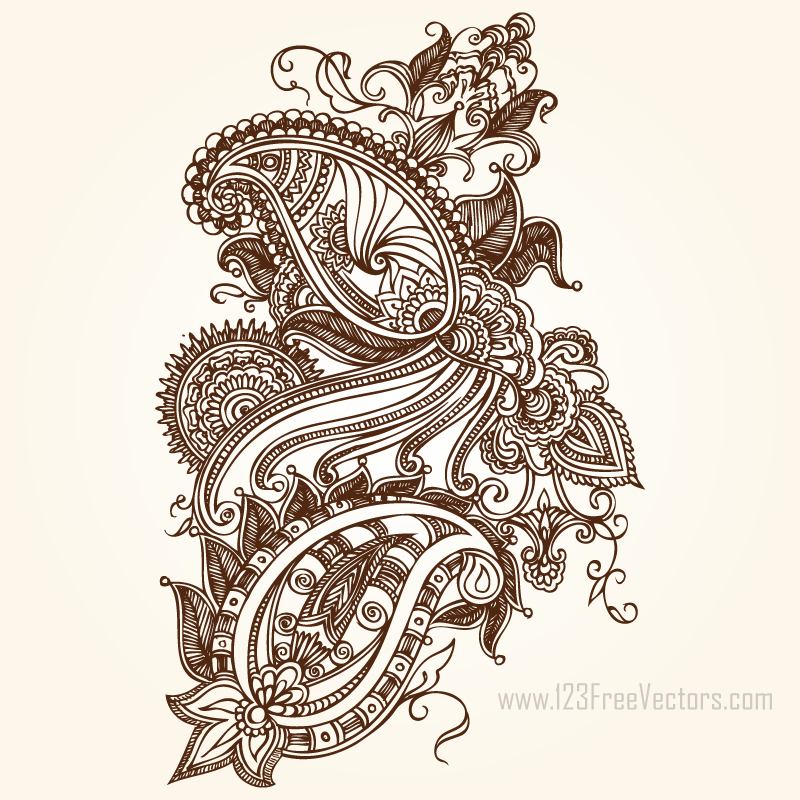 Paisley Graphics by 123freevectors