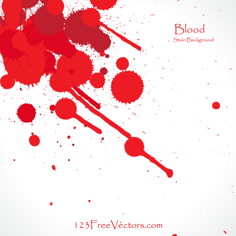 Blood Splatter Vector Background  Free Vector Art amp Graphics