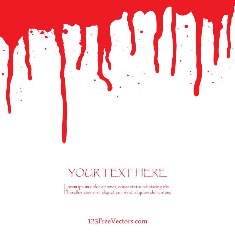 free blood dripping vector art by 123freevectors on deviantart rh 123freevectors deviantart com blood vector illustrator vector blood splatter