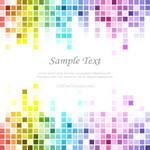 Rainbow Tile Background Vector