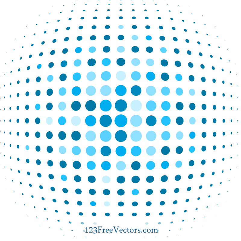Blue Dot Background Illustrator by 123freevectors on
