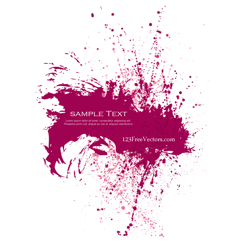 Pink Paint Splatter Background by 123freevectors on DeviantArt