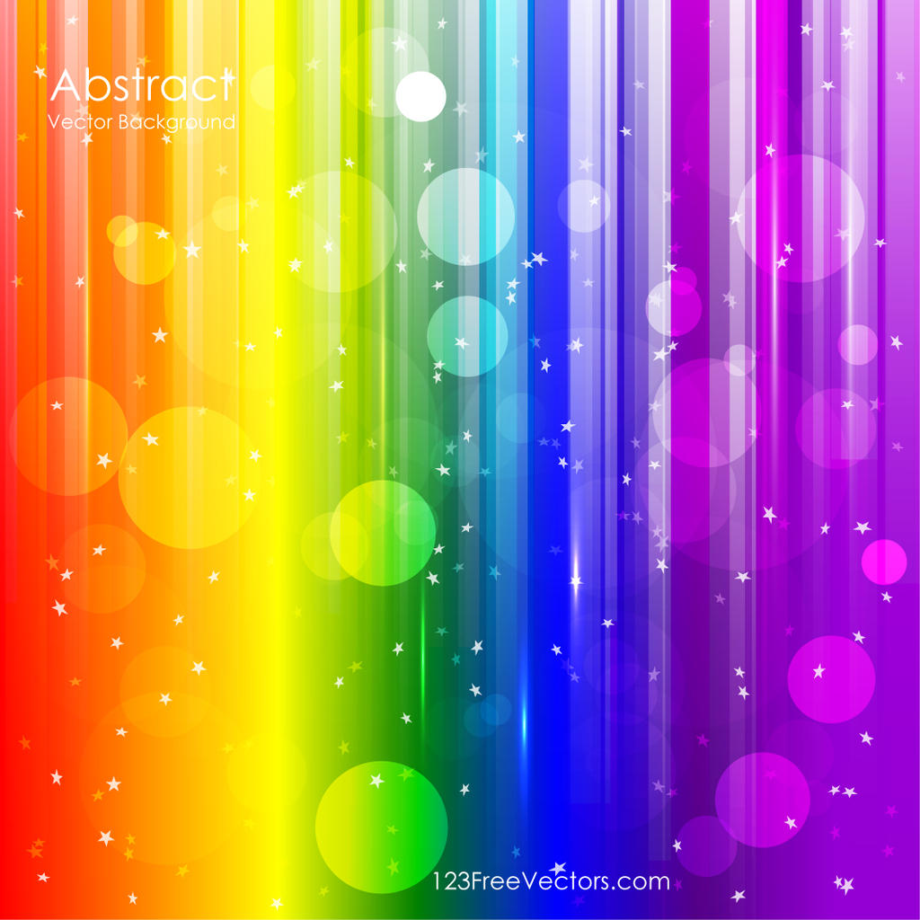 Vector Abstract Rainbow Background By 123freevectors On