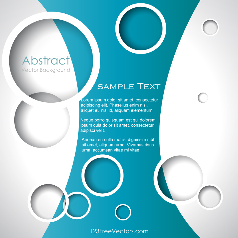 Circle Background Illustrator Template by 123freevectors