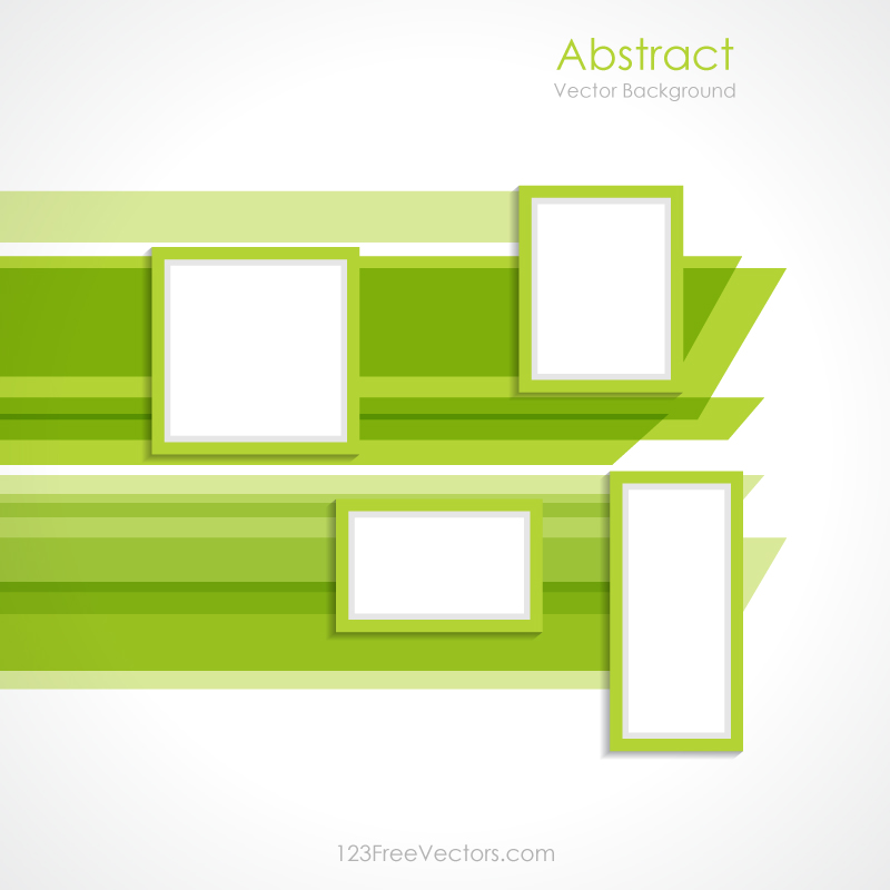 Abstract Green Rectangle Background Vector Design by ...