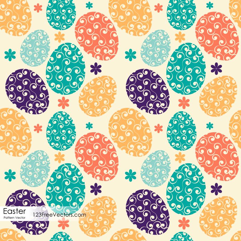 Easter Egg Pattern By 123freevectors On DeviantArt