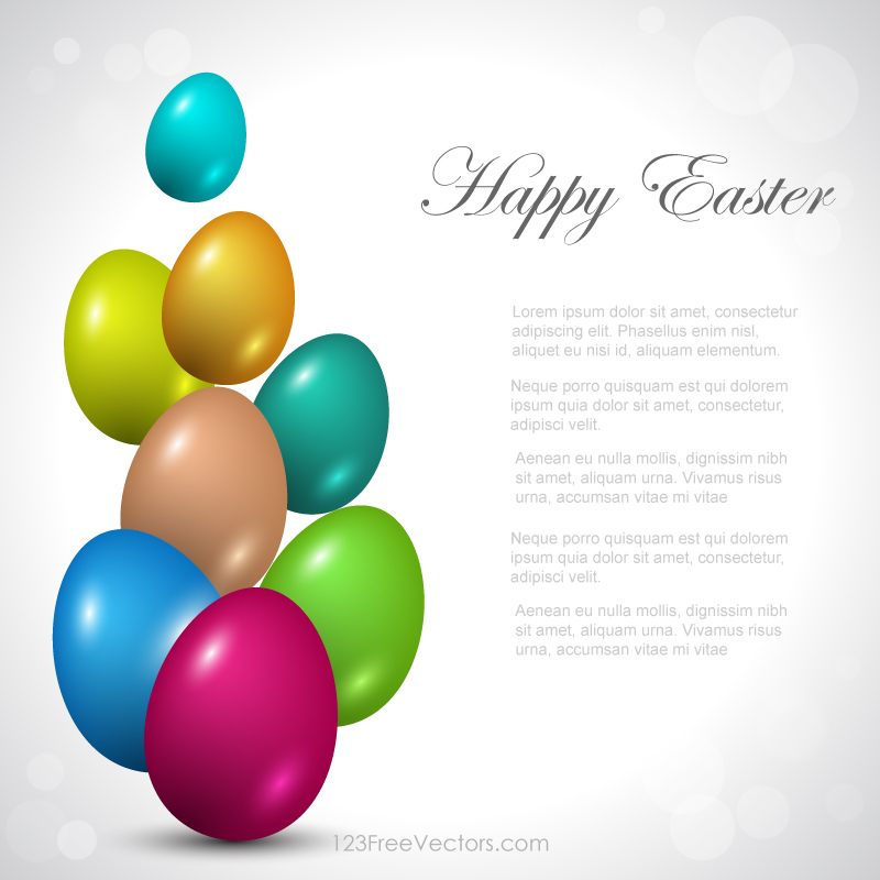 Colorful Easter Background By 123freevectors On DeviantArt