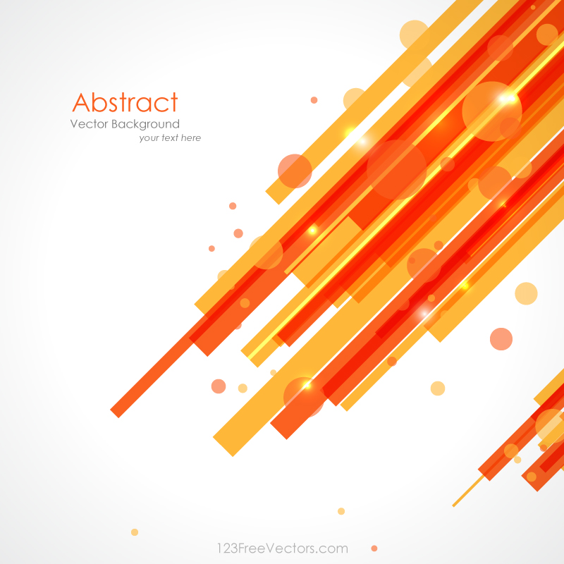 Orange Yellow Lines Background Vector by 123freevectors