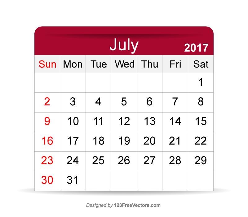 Calendar April To July : July calendar printable by freevectors on deviantart
