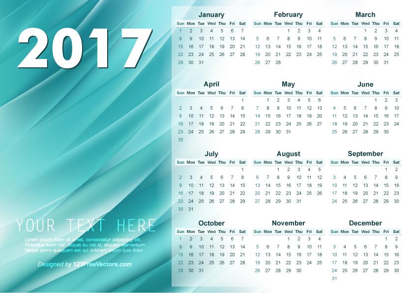 Illustrator 2017 Calendar Template by 123freevectors on DeviantArt