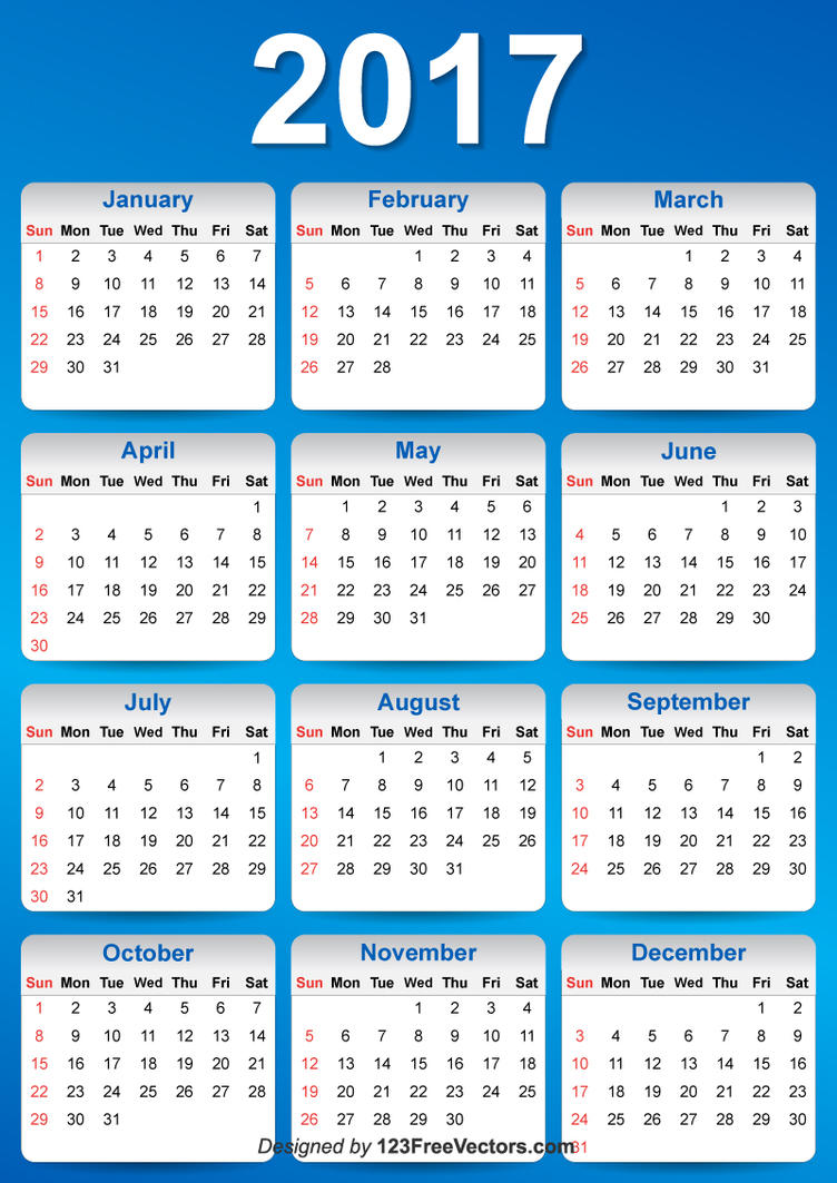 Calendar Design Free Vector : Vector blue calendar design by freevectors on