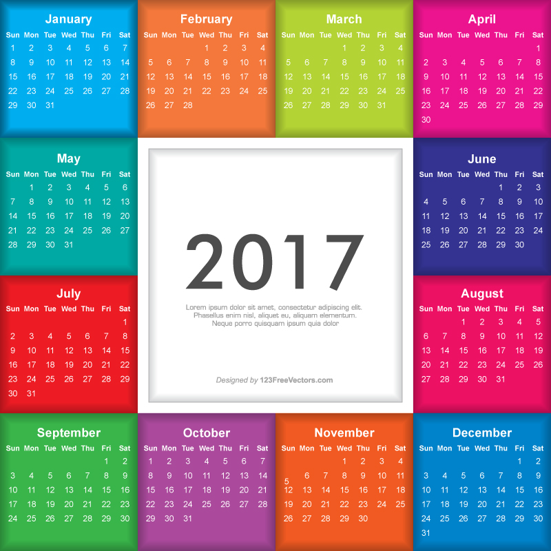 Calendar Design Free Vector : Colorful calendar by freevectors on deviantart