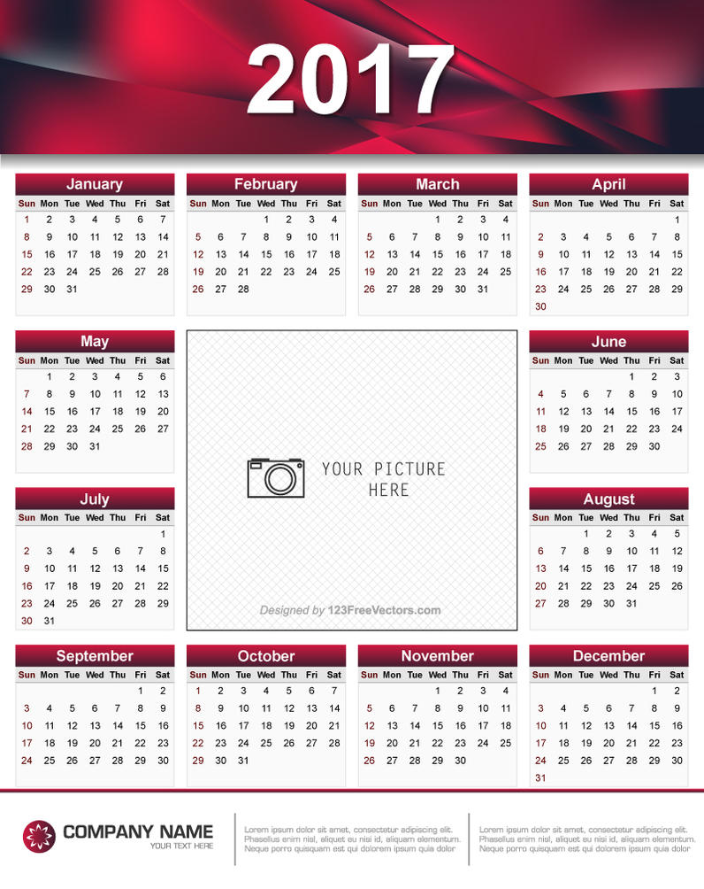 Typography Calendar Free : Printable calendar design by freevectors on deviantart