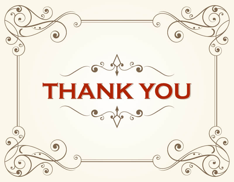 Thank You Card Free Vector by 123freevectors on DeviantArt