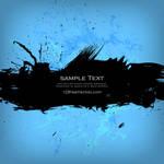 Grunge Banner on Blue Background Free Vector