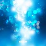 Blue Bokeh Lights Background Free Vector