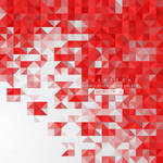 Red Triangle Shape Background Free Vector