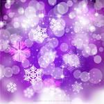 Purple Christmas Bokeh Lights Background Free