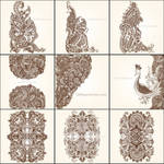 Hand Drawn Floral Ornaments Vector Pack Free