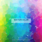Rainbow Watercolor Background Free Vector