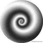 Spiral Dots Background Free Vector