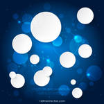 White Paper Circles on Blue Background Free Vector