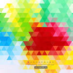 Colorful Triangle Background Free Vector