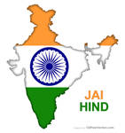 India Flag Map Free Vector