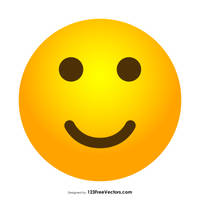 Slightly Smiley Face Emoji Free Vector by 123freevectors