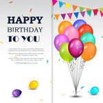 Happy Birthday Greetings Card Free Vector