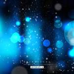 Blurred Lights Dark Blue Background Free Vector