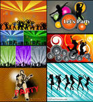 Dance Party Background Vector Pack Free