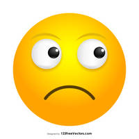 Slightly Frowning Face Emoji Free Vector by 123freevectors