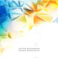 Light Colorful Polygon Triangle Background Free by 123freevectors