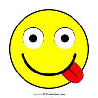 Flat Face Savoring Food Emoji Free Vector by 123freevectors