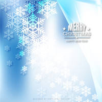 Merry Christmas Snowflakes Light Blue Background by 123freevectors